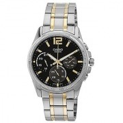 Casio Enticer Analog Black Dial Mens Watch - MTP-E305SG-1AVDF(A996)