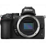 Aparat Foto Mirrorless Nikon Z50, 21MP, 4K, Wi-Fi, Bluetooth + Adaptor FTZ (Negru)