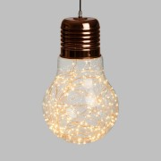 Luci Da Esterno Lampada Globo con estetica vintage Ø 30 cm 6W Micro LED Bianco Caldo