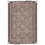 vidaXL Pamučna prostirka 180 x 270 cm tamne boje