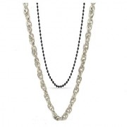 Silver Color Yo Yo Honey Singh Short Chain With Black Color Hip Hop Long Chain Combo At Best Price By GoldNera