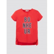 TOM TAILOR Lang T-shirt met print, Kinderen, chinese red red, 152