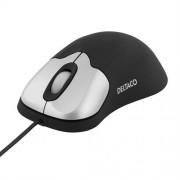 Deltaco ergonomisk optisk mus svart/silver, 800 DPI