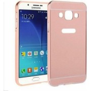 Husa Bumper Aluminiu Mirror Auriu Roze Iberry Pentru Samsung Galaxy J1 J120 2016