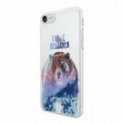 Husa Silicon Transparent Slim I Love Romania Apple iPhone 7 8