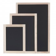 3er Set Wandtafeln HWC-C18, Kreidetafel Schreibtafel Schiefertafel Dekotafel Notiztafel ~ Variantenangebot