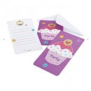 Cupcake inbjudningskort - 6 st