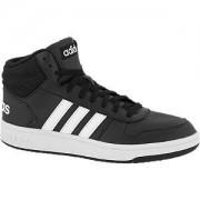 Adidas Zwarte Hoops Mid 2.0 44