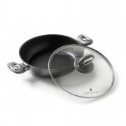 Cook's Essentials Padella antiaderente con coperchio in vetro, diam. 24 cm