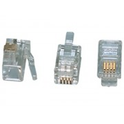 Valueline TEL-0002 RJ10 4P/4C telefon csatlakozó