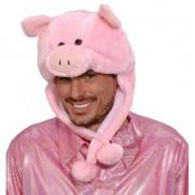 Merkloos Roze varkens muts voor volwassenen