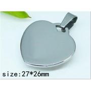 Медальон Сърце изработен от медицинска стомана 316L (DCP22104)