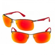Men's Ray-Ban Sunglasses RB 3550 029/6Q 64 Gunmetal Frame Red Mirror Lens RB 3550 029/6Q 64 Alphanumeric String, 20 Character Max