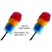 MAGIC DUSTER LONG Colorful Microfibre 2 Static Duster For Easy Cleaning Your Home/Office/Shop/Car (Pack Of 2)