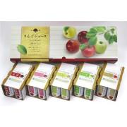 長野興農化粧箱入り信州りんごジュース5種セレクト 2箱×(160g×30本)