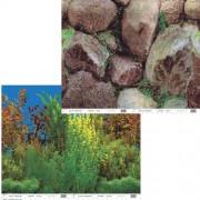 PENN PLAX Pozadie obojstr. 60cm/15m Grassy Plant/ Boulder