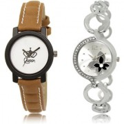 The Shopoholic White Silver Combo Latest Fashionable White And Silver Dial Analog Watch For Girls Girl Watchs