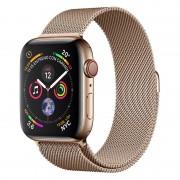 Apple Watch Series 4 GPS + Cellular 44mm Aço Inoxidável Dourado com Bracelete Milanese Dourada
