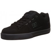 DC Men's Pure M Shoe Black and Pirate Black Leather Sneakers - 8 UK/India (42 EU)(9 US)