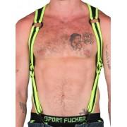 665 Inc. Neoprene Heckler Harness Neon Green/Black 14519M