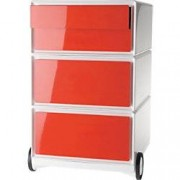 Paperflow Mobile Pedestal Easybox Red With 2 Pen Case Drawers And 2 Drawers 390 x 436 x 642 mm
