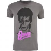 Band Merch David Bowie Men's Aladin T-Shirt - Charcoal - S - Grey