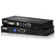 Estensore KVM USB DVI Dual Link con Audio e RS-232 60m, CE602