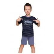 Max fiú pizsama autóval, csíkos 116
