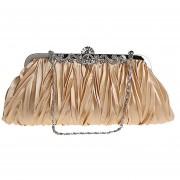 Louiwill Oro Bolso De Embrague Exquisita Cristal Plisado Decorativo De La Noche De Fiesta Para Mujer
