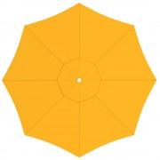 Paramondo Toile de parasol ronde 3,5 m, Interpara, Jaune