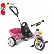 Háromkerekűjével PUKY Carry Touring Tipper CAT 1S rózsaszín