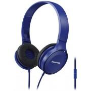 Casti Stereo Panasonic RP-HF100ME-A, Microfon (Albastru)