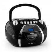 Auna Beeboy Radiocasete CD MP3 USB negro (CS4-BEEBOY)