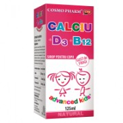 Advanced kids sirop calciu vitamina d3 vitamina b12 125ml COSMOPHARM