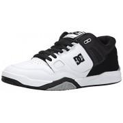 DC Men's Stag 2 Skate Shoe, White/Black/Armor, 6 M US
