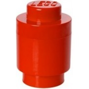 Cutie de depozitare LEGO rotund - roșu o123 x 182 mm