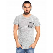 Norte Moda T-Shirt Swag Fechos Mesclada