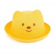 s de paja de de verano para bebés, decoración de la oreja, sniñas, de sol sólido para, Floppy C017 Sombrero LANG(#Amarillo)
