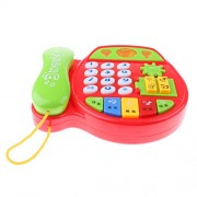 Phenovo Baby Toys Music Phone Educational Developmental Kids Pretend Play Toy Xmas Gift W/ Music Musical Instruments Toys Red