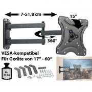 """General Office Schwenkbare TV/Monitor-Wandhalterung, 43-153 cm (17""""-60""""), bis 35 kg"""