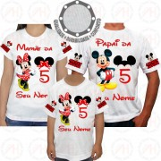 Kit 3 Camisetas Minnie Mouse