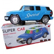 OH BABY BABY 3D LIGHT MUSICAL POWER WITH AUTOMATIC SENSOR SUPER SPEED BLUE COLOR CAR FOR YOUR KIDS SE-ET-04