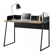 Бюро за компютър [en.casa]®, Черно/Дърво, ПДЧ, 120 x 60 x 90 cm