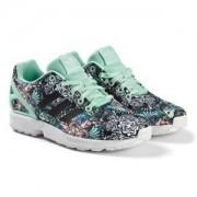 adidas Originals Zebra Jungle Print ZX Flux Sneakers Barnskor 37 13 (UK4 12)