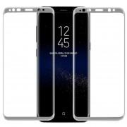 Louiwill Protector De Pantalla Galaxy S8, Pantalla Completa Protector De Pantalla De Cristal Templado Para Samsung Galaxy S8 Con Burbuja Anti-huella Digital Gratuita Y Anti-arañazos, Plata