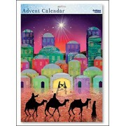 Caltime We Three Kings Nativity Silhouette Large Advent Calendar with White Envelope 315 X 410 Mm