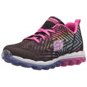 Skechers Kids Girls' Skech-Air-Jumparound Running Shoe, Black/Multi Knit, 5 M US Big Kid