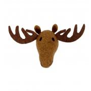 Klippan Yllefabrik Animal Head Moose handfiltad ull, Klippan Yllefabrik