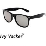 Ivy Vacker Silver Mirrored Wayfarer Men Sunglass