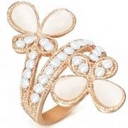 Arany színű, cirkónia kristályos gyűrű ékszer